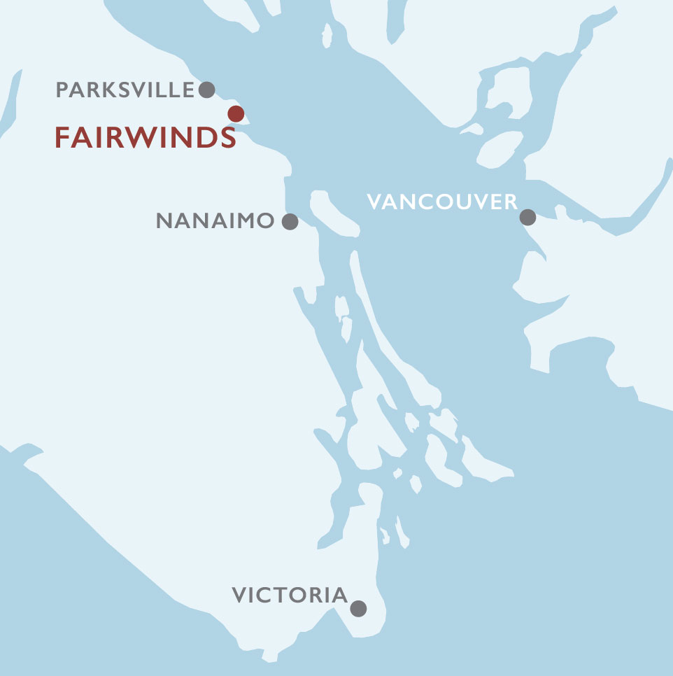 Vancouver Island Fairwinds Map
